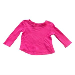 *5/$20* Old Navy Pink Waffle Knit Long Sleeve Top